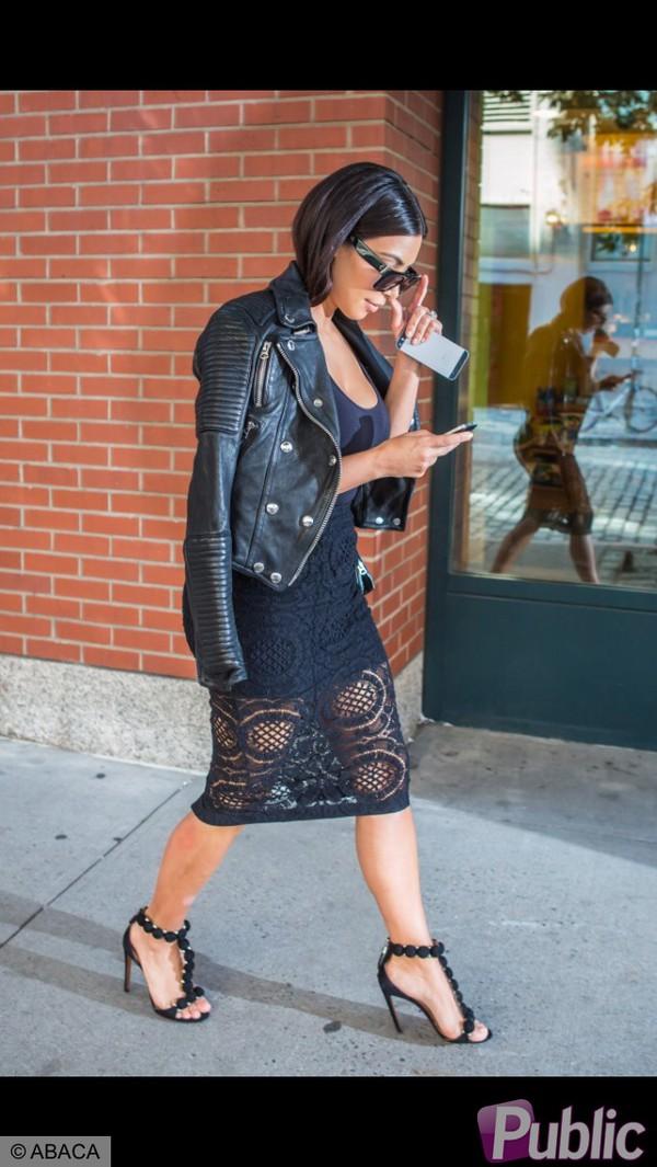 skirt kim kardashian black sunglasses dress black dress coat blouse 159745 leather jacket