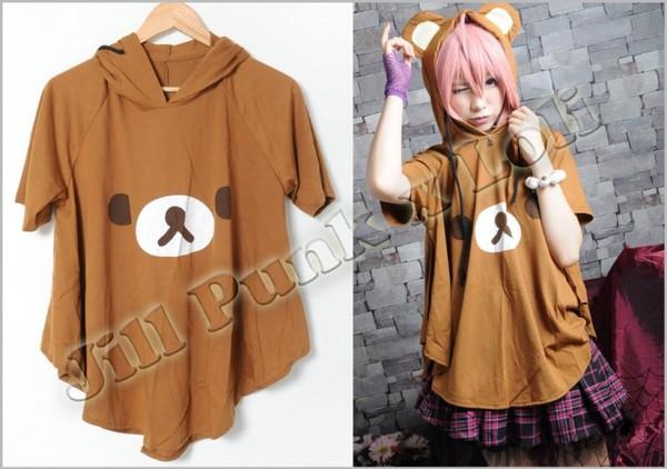 shirt rilakkuma brown bear japan sanx relax japanese cute