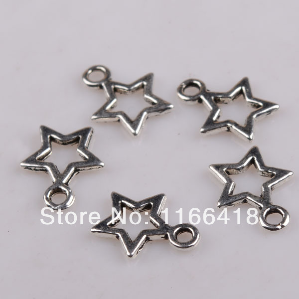 100pcs Tibetan Silver Tone Tiny Five Star Charms Pendants Fashion Jewelry DIY AS0037-in Charms from Jewelry on Aliexpress.com