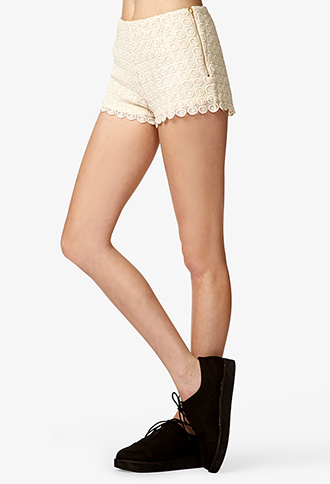 Full Circle Embroidered Shorts | FOREVER 21 - 2047171731