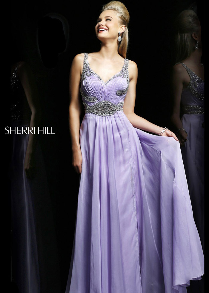 Light Purple Beaded Evening Gown From Sherri Hill 3896 [Sherri Hill 3896] - $177.50 : Shop Cheap Prom/Homecoming Dress 2014 on Darlingprom