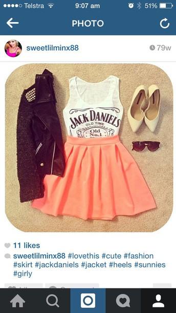 dress jack daniels top and skirtt