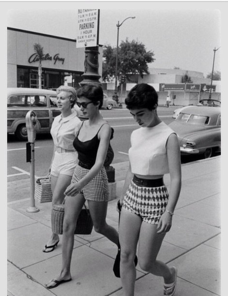 Shorts: vintage, 60s style, 60s style, high waisted shorts ...  Retro