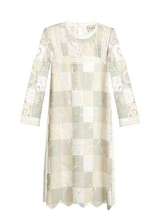 dress patchwork cut-out lace