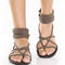 Gomax ares 09 brown braided thong sandals from lulu*s | shoes