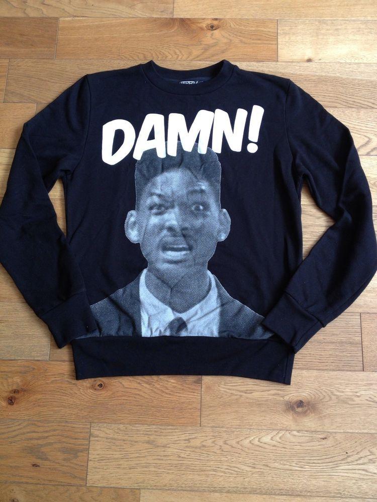 Bepriv Paris Medium Will Smith Fresh Prince 'damn' Mens Jumper | eBay