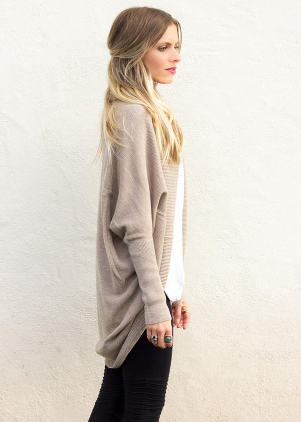 sweater long sleeves knit knitwear top shirt slouchy oversized