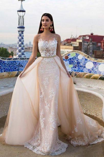 Dress Long White Wedding