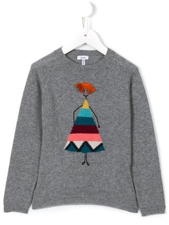 sweater girl toddler grey