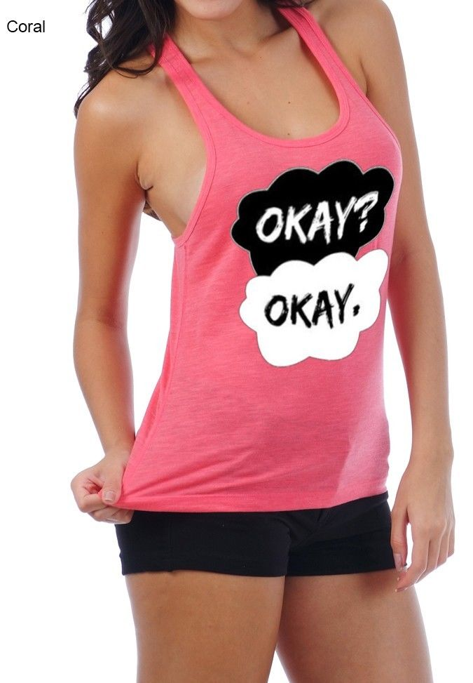 Okay Okay The Fault in Our Stars Racer Tank w Laced Back Tank Top Tshirt   eBay