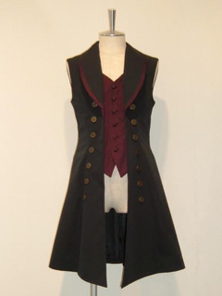coat waistcoat jacket steampunk steampunk clothing blouse fantasy vest sleeveless coat