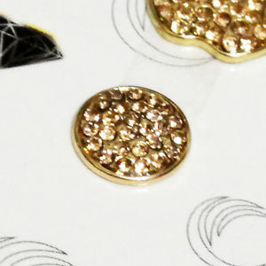 Bling Logo Home Button Crystal Stickers YC for Apple iPhone 5 4S 4 3GS Golden   eBay
