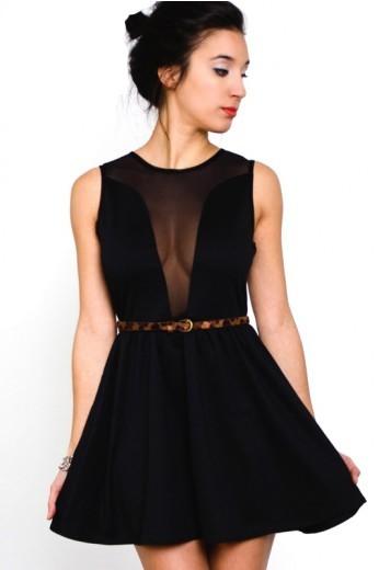 Lulu Dress- For Love and lemons Black Mesh Dress-$95