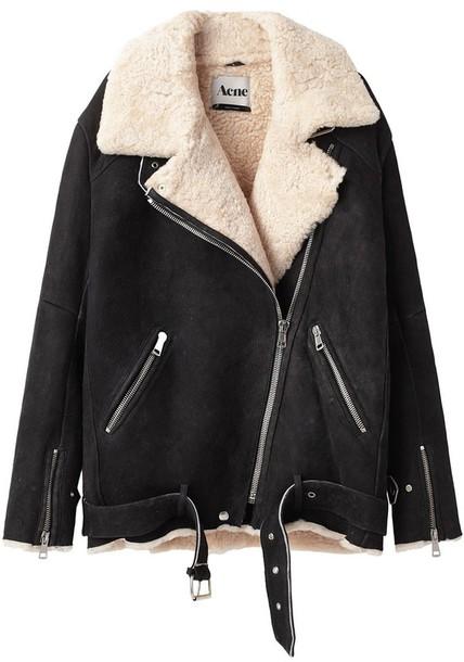 coat acne studios sheepskin jacket