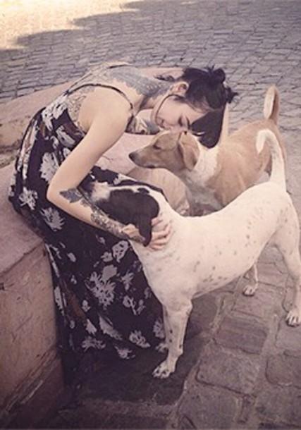 dog tattoo dress
