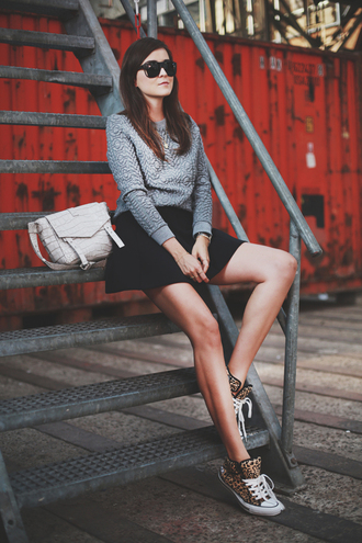 style scrapbook shoes skirt sweater bag