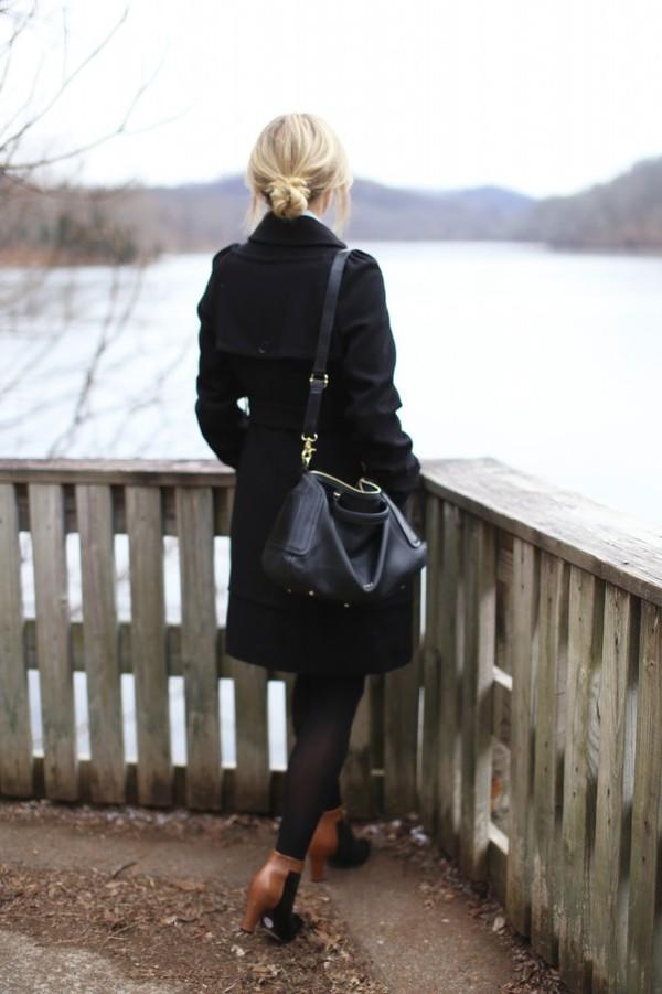 happily grey coat t-shirt skirt shoes bag