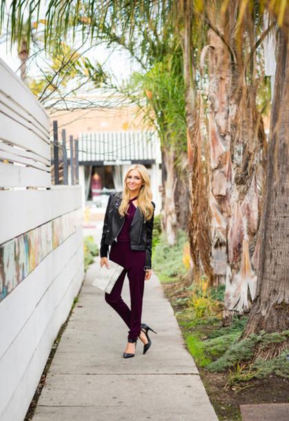 angel food blogger jumpsuit burgundy