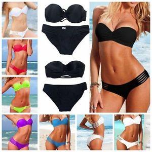 Hot Sexy Women Padded Push Up Underwire Swimwear Swimsuit Bikini Beachwear s M L | eBay
