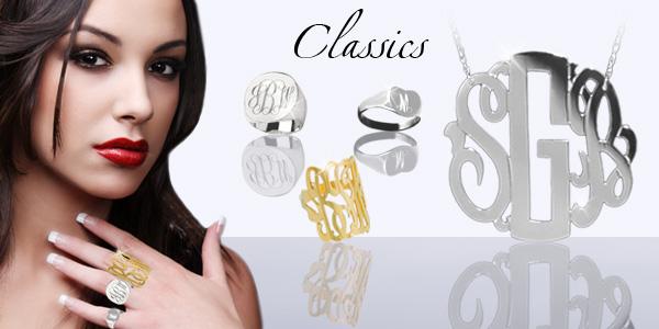 Jane Basch Designs Monogram Jewelry