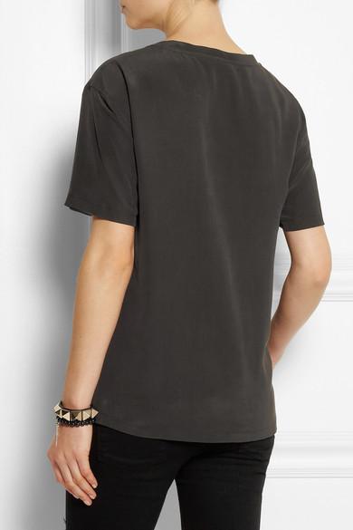 Equipment|Cameron washed-silk top|NET-A-PORTER.COM