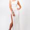 Doutzen kroes inspired split maxi dress | zukoh