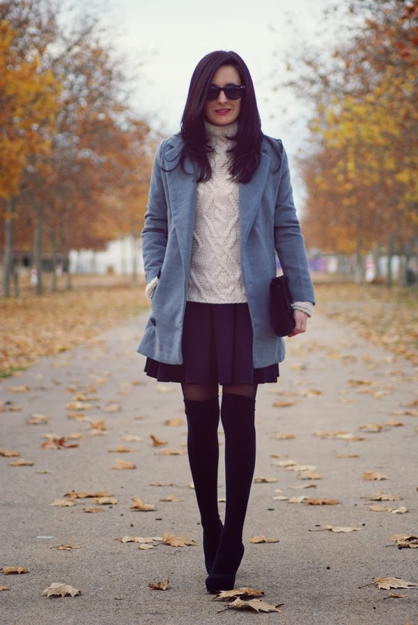 my name is maria coat sweater skirt shoes bag