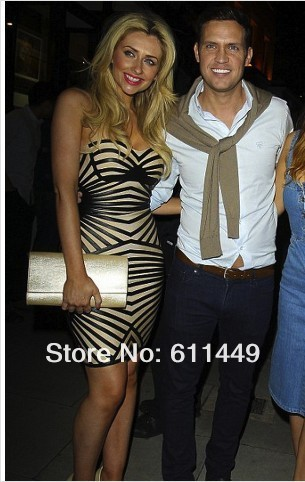 Free shipping 2013 hot sale sexy off the shoulder black PU leather striped  bandage dress,sexy evening dress-in Apparel & Accessories on Aliexpress.com