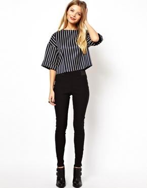 ASOS | ASOS Tube Pants with Elastic Side Detail at ASOS