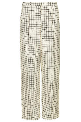 Window Pane Slouchy Trousers - Topshop USA