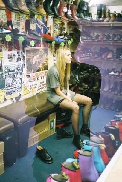 shoes grunge punk fashion tights