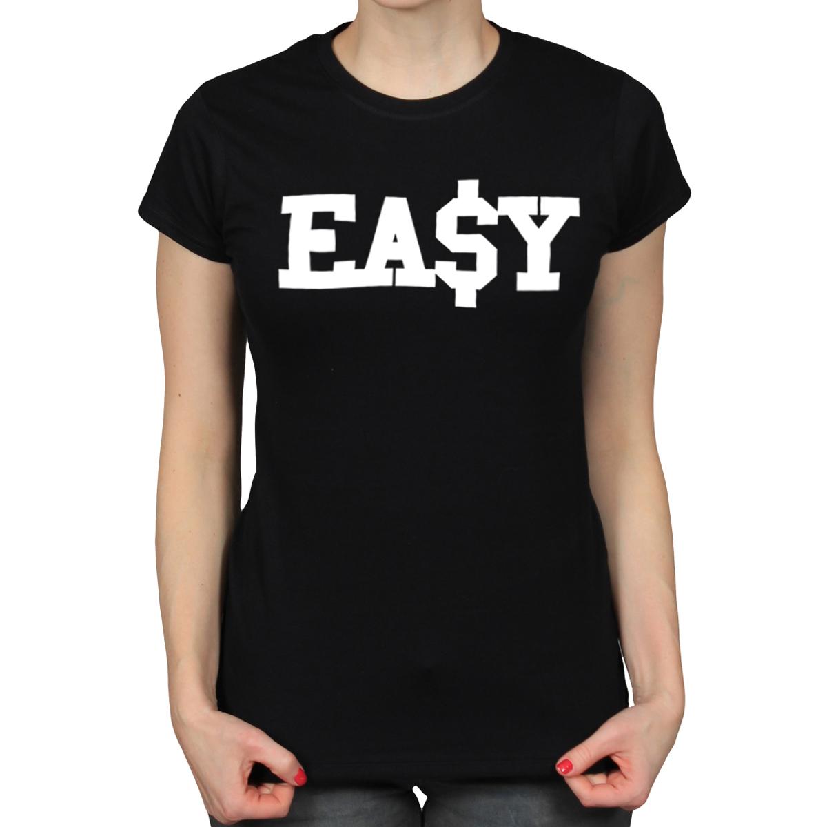 EASY DOLLAR COLLEGE SWAG URBAN RAP HIP HOP LADIES BLACK T-SHIRT GIRLS TEE [331] | eBay