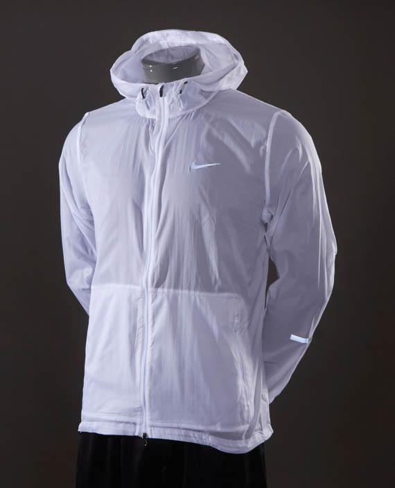 Mens White Bomber Jacket Nike Hurricane Jacket - Mens Running Clothing - White ...