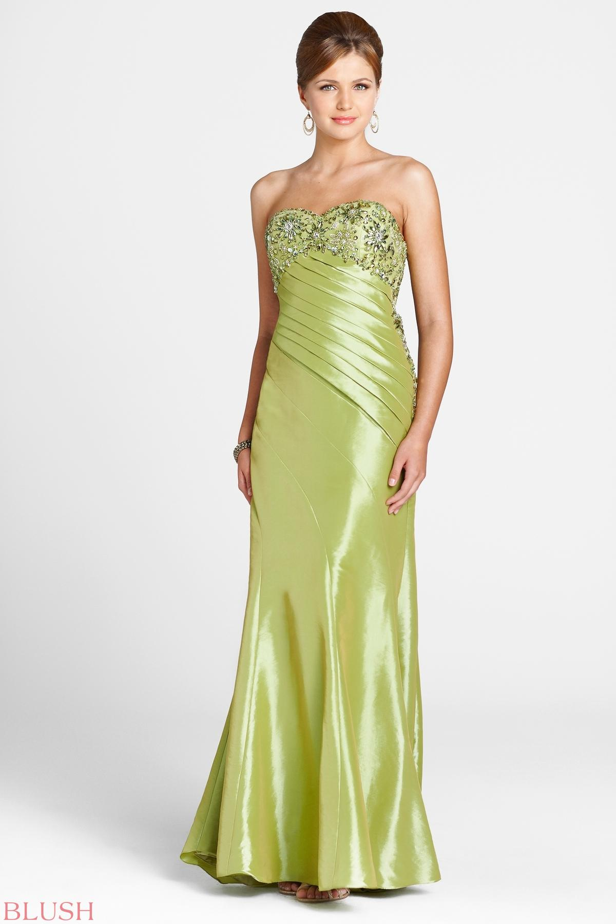 Buy 2014 Beautiful Strapless with Beaded Floor Length Satin Prom Dress for sale Online Cheap Prices