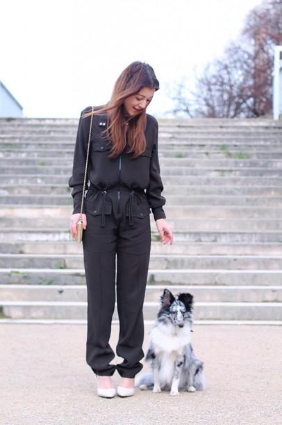 elodie in paris blogger jumpsuit