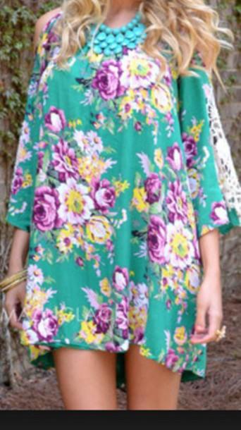 dress floral fashion