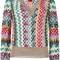 Missoni v-neck jumper, women's, size: 38, cupro/viscose/polyester