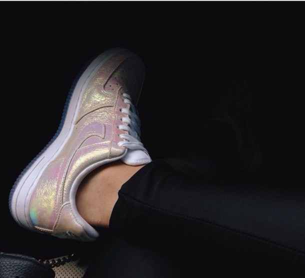shoes nike air force 1 style shining