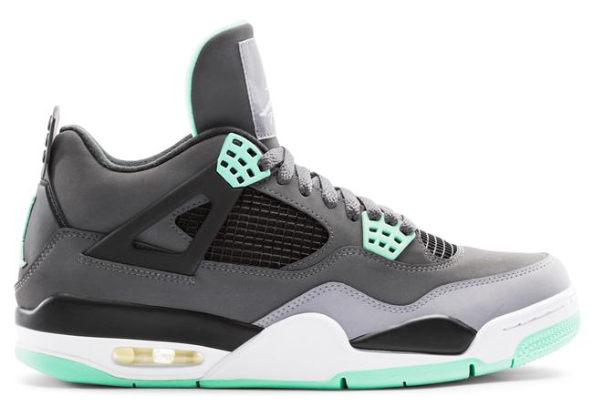 "Air Jordan 4 Retro ""Green Glow"" (Official Images) | KicksOnFire.com"