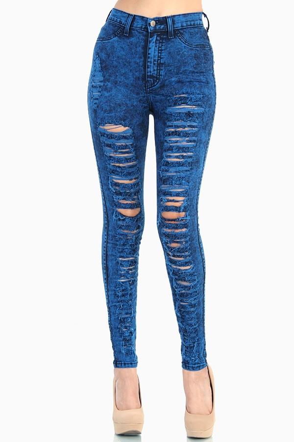 jeans acid wash blue jeans