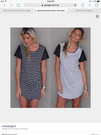 dress tee shirt dresses black and white striped dress horizontal stripes