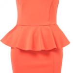 Zara Neon Orange Peach Peplum Dress - Big Blonde Hair  : Big Blonde Hair