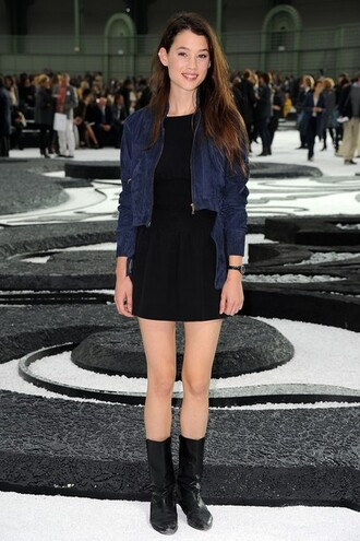 jacket cardigan astrid berges frisbey pirates of the caribbean blue rock grunge clothes chanel fashion