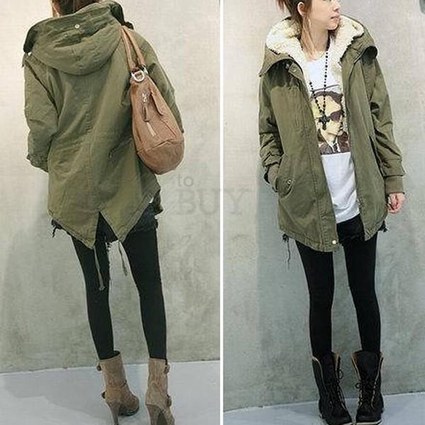 Women Warm Winter Lady Zip Casual Hoodie Parka Long Overcoat Coat Jacket Outwear | eBay