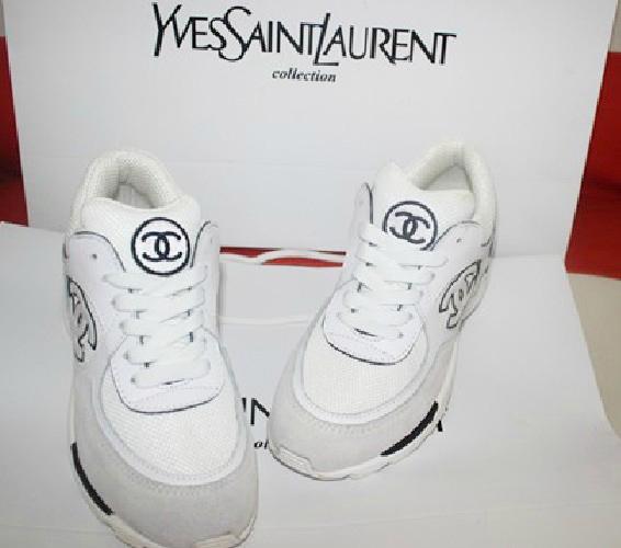 Chanel Running Sports Sneakers Women's Shoes White - jishopping
