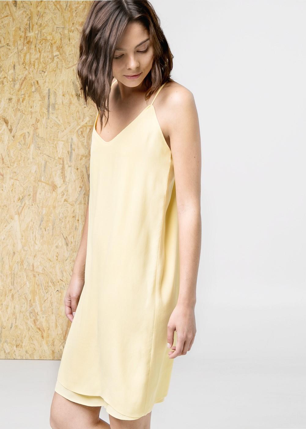 V-neckline dress -    Women - MANGO