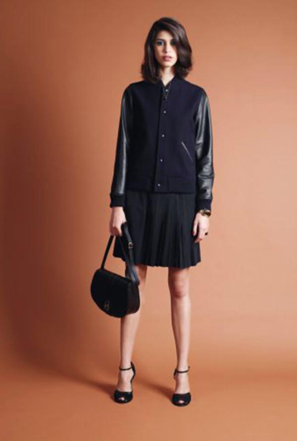 skirt apc fashion lookbook jacket bag shoes