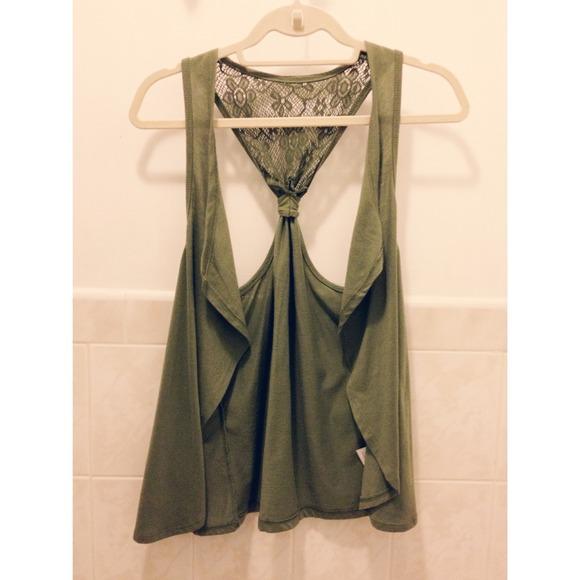 Olive Green Sleeveless Cardigan S from Ana's closet on Poshmark