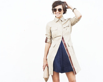 jacket glamourai trench coat brown jacket