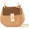 Chloé gold-tone chain shoulder bag, women's, nude/neutrals, buffalo leather